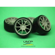 18 inch OZ Alleggerita with stance tires for Tamiya Aoshima Hasegawa