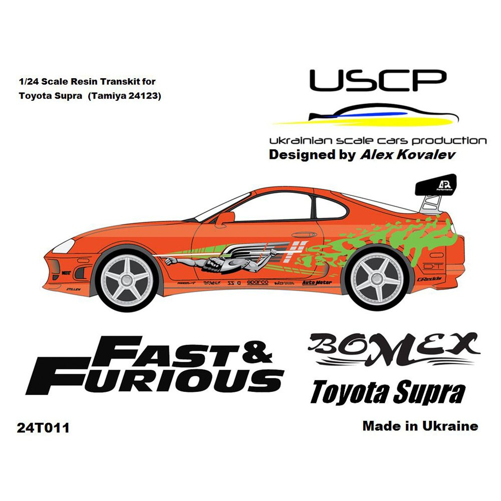 Toyota supra fast and furious transkit for tamiya 24t011